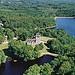 Le château de Sédières et son lac...