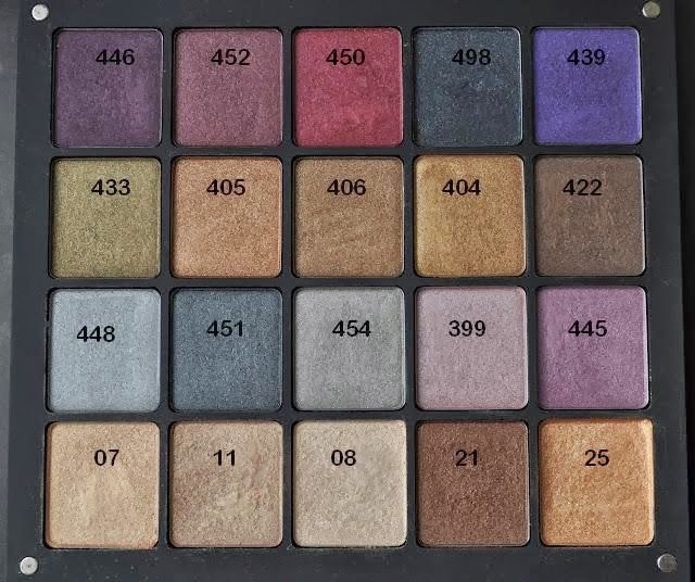 INGLOT Freedom System Eyeshadow Swatches Only 140 Of
