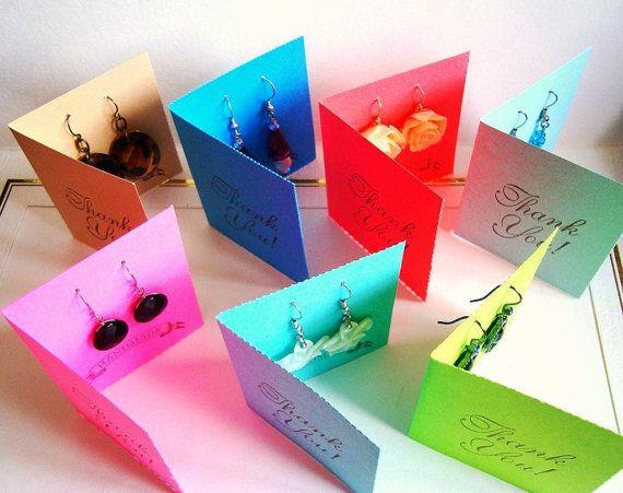 Earring kaarten, Earing houder, Earring kaarten met banden, kies uw kleuren, sieraden verpakking, Tent stijl, Etsy-verkopers, hand gemaakt door Wcards