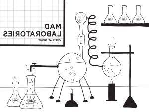 Printable Mad Scientist Lab Backdrop