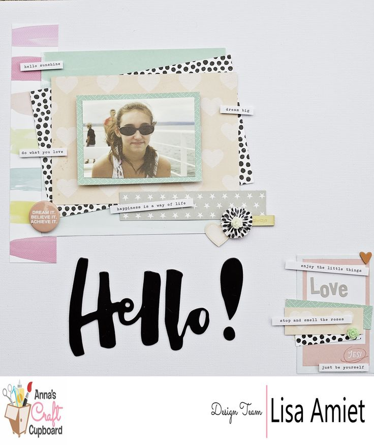 Anna's Jan '17 kit is now available through the Anna's Store http://www.annascraftcupboard.com.au/store/annas-kits-c-4293/. Lisa @leesyjsnaps has applied her creative talents on our latest kit and WOW! She has delivered with 3 beautiful layouts and a card. Here is her first layout titled 'Hello'. Visit our blog for more information http://www.annascraftcupboard.com.au/blog/kit/2017-january-kit-lisa-amiet/ #scrapbooking #annaskits #annascraftcupboard #annasdtmember #onetalentedlady