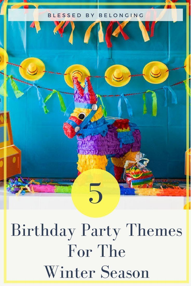 5 Birthday Themes For The Winter Season!  Why should summer have the best birthday parties? Here are some fun birthday themes to make winter birthdays just as fun!