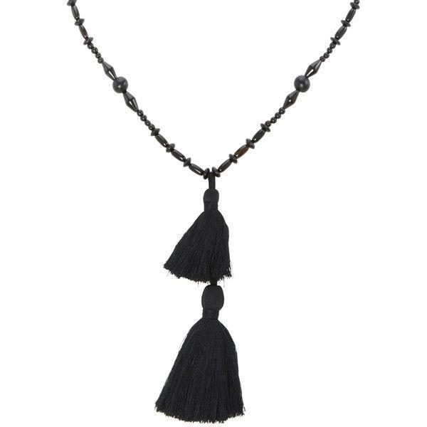 Isabel Marant     Beaded Tassel Bracelet (16.575 RUB) ❤ liked on Polyvore featuring jewelry, bracelets, black, beaded jewelry, bead jewellery, isabel marant jewelry, beading jewelry and beaded bangles