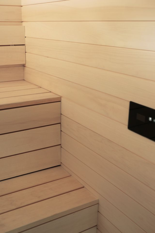 Tulikivi Kuura saunaheater and Tulikivi touch screen featured at Hedda's: Kylpyhuoneessa, vol 2 blog.