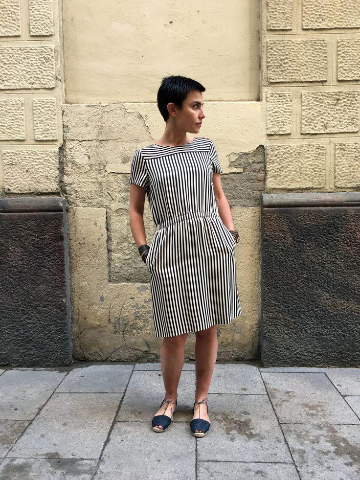 Propuesta Look: vestido de A.P.C. con espardrilles Ball Pagès.