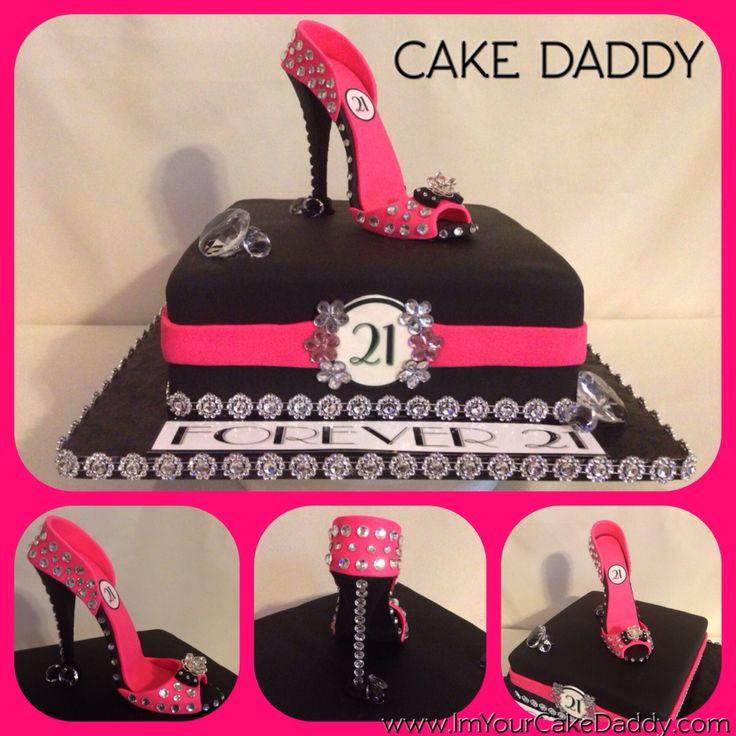 High Heel Shaped Birthday Cake