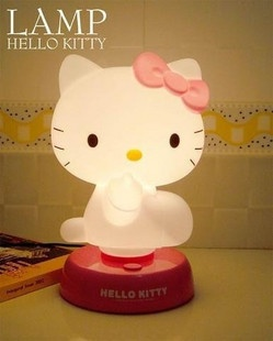 Hello Kitty Night Bed Side Light Table Desk Lamp Red