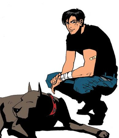 Terry and Ace, Batman Beyond. Am I the only one who noticed that Ace has the same name of the girl in Justice League, who Batman stayed with as she died?- no, that was why he was named that! :)