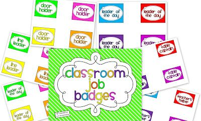 Teaching With Love and Laughter: BTS Blog Hunt...Job Badges...Freebie!