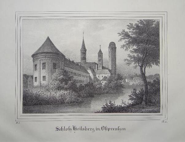 Lidzbark Warmiński  - od drugiej strony, rok 1842.