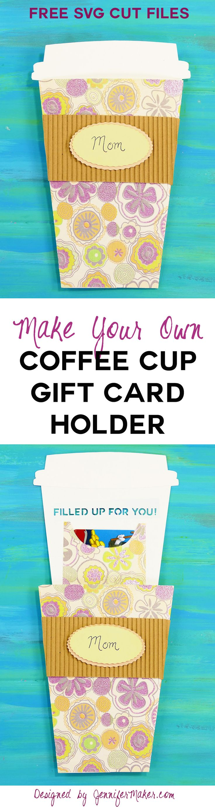 Take-Out Coffee Cup Gift Card Holder   Papercraft   Cricut Gift Card   Handmade Card   Starbucks Gift Card Holder