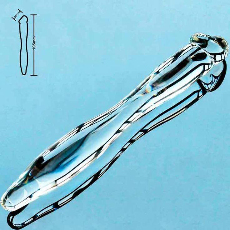 Double Ended - Headed - Glass Dildo-Long 19cm