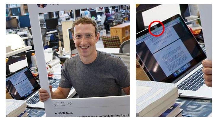 """Se más """"cool"""" tapando tu webcam que Mark Zuckerberg  😀"""