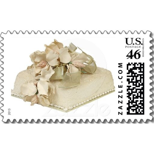 Square Wedding Cake Postage Postage Stamps Squares And Wedding