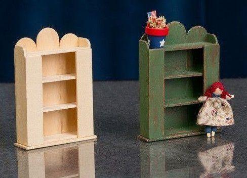 кукольная мебель из палочек для мороженого