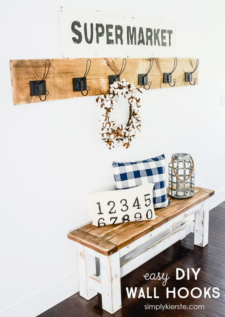 Super easy & adorable DIY Wall Hooks | simplykierste.com