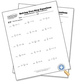 Using Multiplication Solving Two-Step Equations