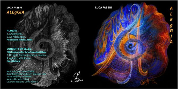"Luca Fabbri ""ALEgGIA"" / Music composed by Luca Fabbri / Recorded 2006 / Cover and Design by Carina Aprile"