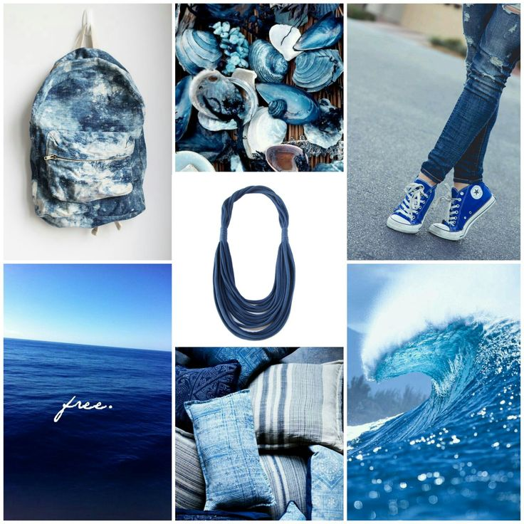 Blue sea  be inspired! #recycleyourtshirt #handmade #fabric #necklace #neckwear