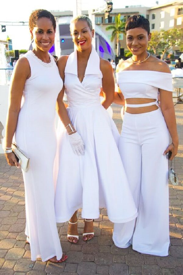 All white wedding theme dress code