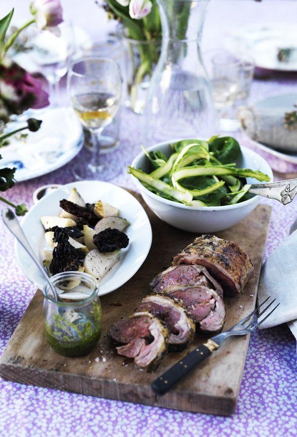 Påskefrokost menu med lam og livsglæde