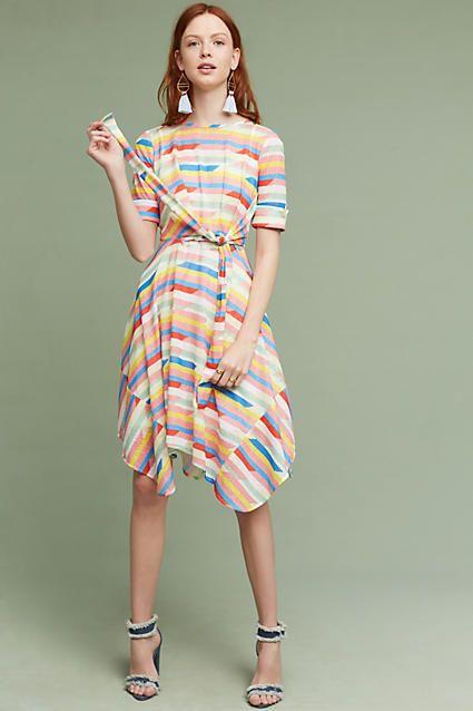 Eva Franco Carrie Tie-Waist Dress
