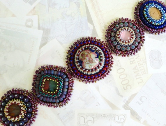 Bead embroidery on leather beading pinterest