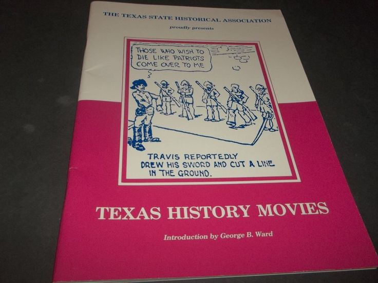 Vintage Texas History Movie Book in Comic Form  State Historical Association 86