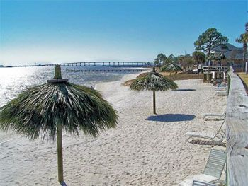 Emerald Beach RV Park Navarre Hailed as one of the cleanest and friendliest RV parks in Northwest Florida, the Emerald Beach RV Park is located in Florida's Panhandle-halfway between Pensacola and Destin-making it perhaps the closest RV Park to the Gulf.