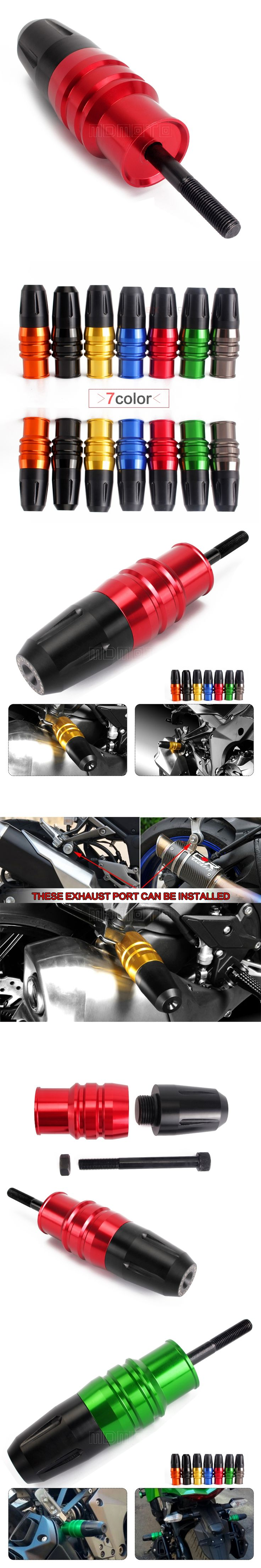 Motorcycle Exhaust Slider Crash Protector for kawasaki ninjia z750 z800 z300 zx9r zx12r zx14r z 800 zx 12r 9r 300 250 300sl