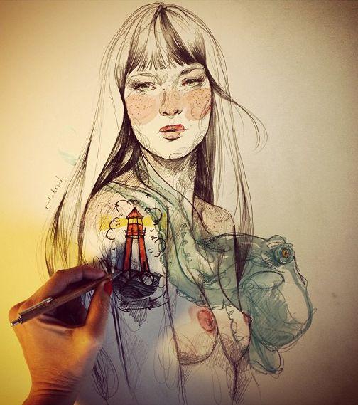 Nos encanta el trabajo de @paulabonet  Puedes ver más ilustraciones de Paula Bonet aquí: www.gnomo.eu/paulabonet