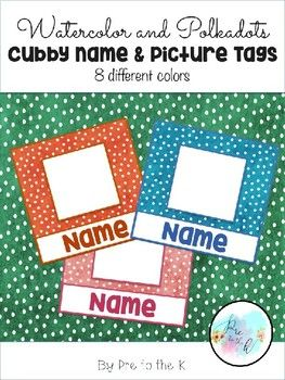 Cubby name tags! Keep your cubbies organized and looking good with these cubby name tags! Edit them to add a photo of each student and their name for easy recognition!