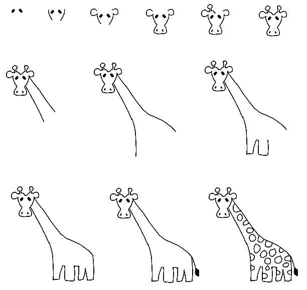 apprendre a dessiner girafe