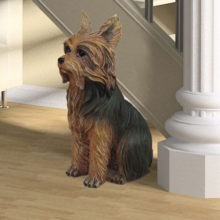 Yorkshire Terrier Dog Statue 11h 39 00 This Stands 11 Inches High Sculpture Is Made Mother S Day Gift Ideas