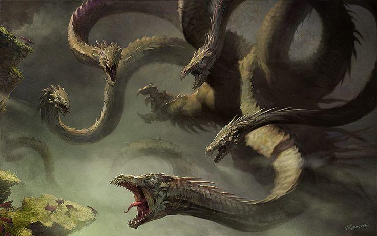 criaturas mitológicas HIDRA DE LERNA