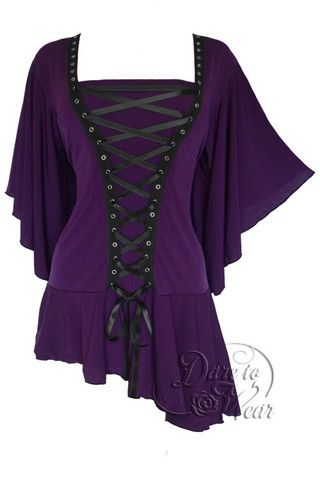 Dare To Wear Victorian Gothic Women's Alchemy Corset Top Amethyst S-5XL