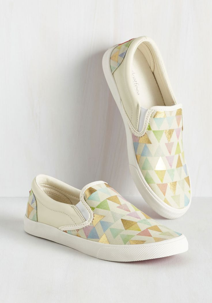Everyday Festive Slip-On Sneaker. Fill in any open spaces in your day with the fun vibes of these slip-on shoes from artist collab brand Bucketfeet! #white #modcloth