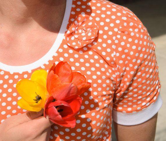 Women's Floral Scoop TShirt Sewing Pattern by SweetShopSewing, $6.99