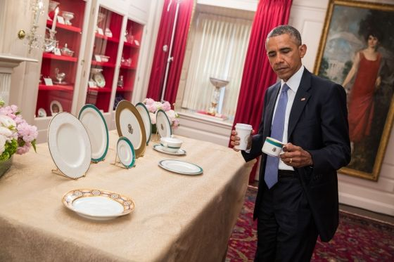 President Obama previews the china patterns