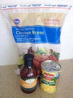 Crockpot hawaiian BBQ chicken