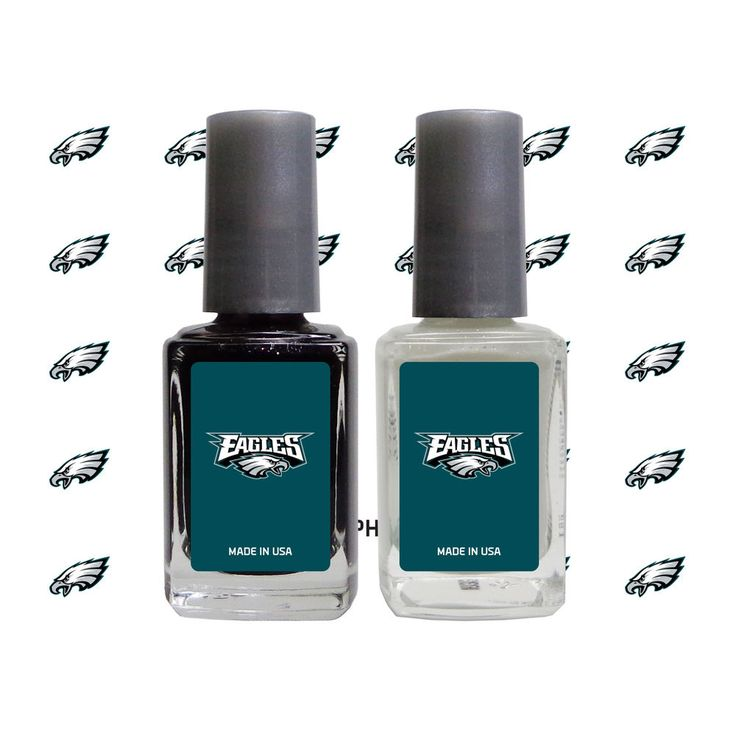 Philadelphia Eagles 2-Pack Nail Polish and Decal Set
