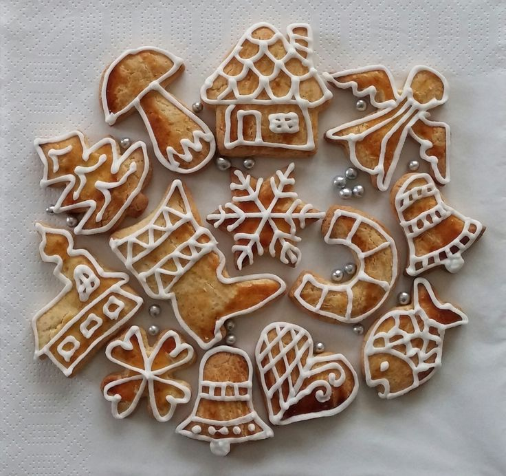 medové perníčky - honey cookies