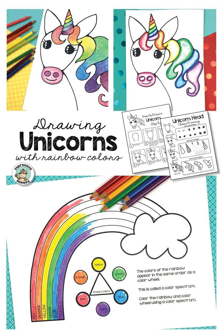 - Unicorn Drawing With Rainbow Colors In 2020 (With Images