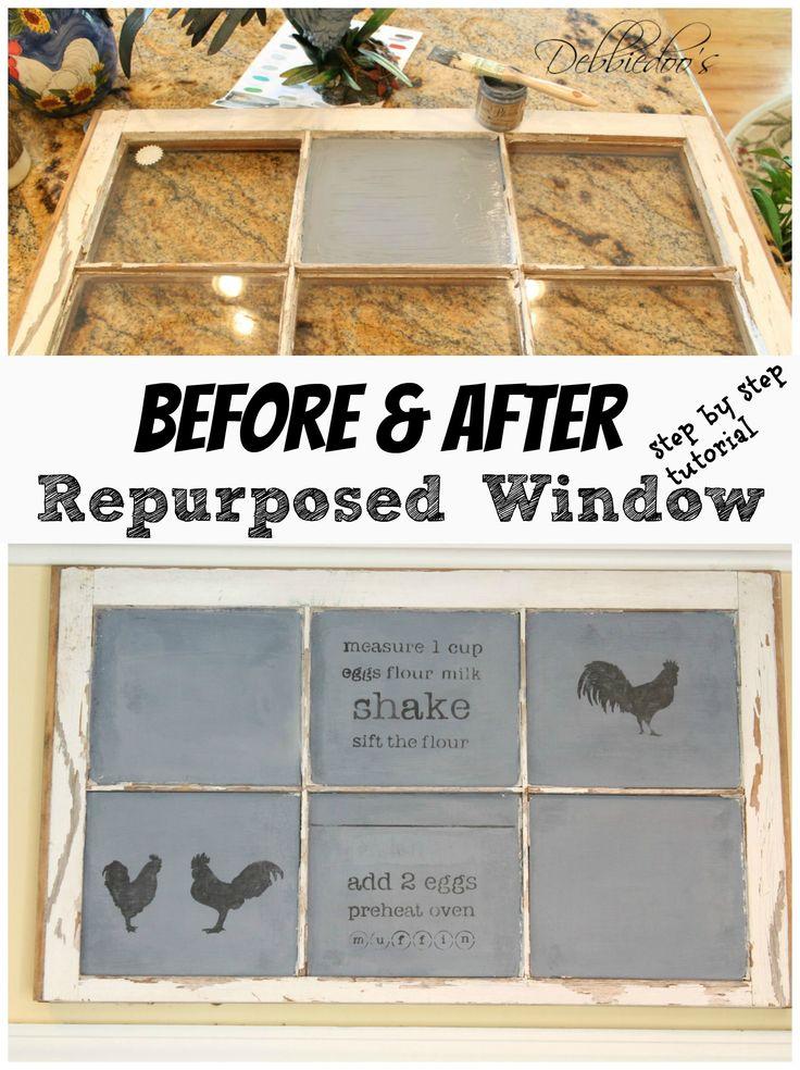 #Diy #repurposed window to #chalkboard