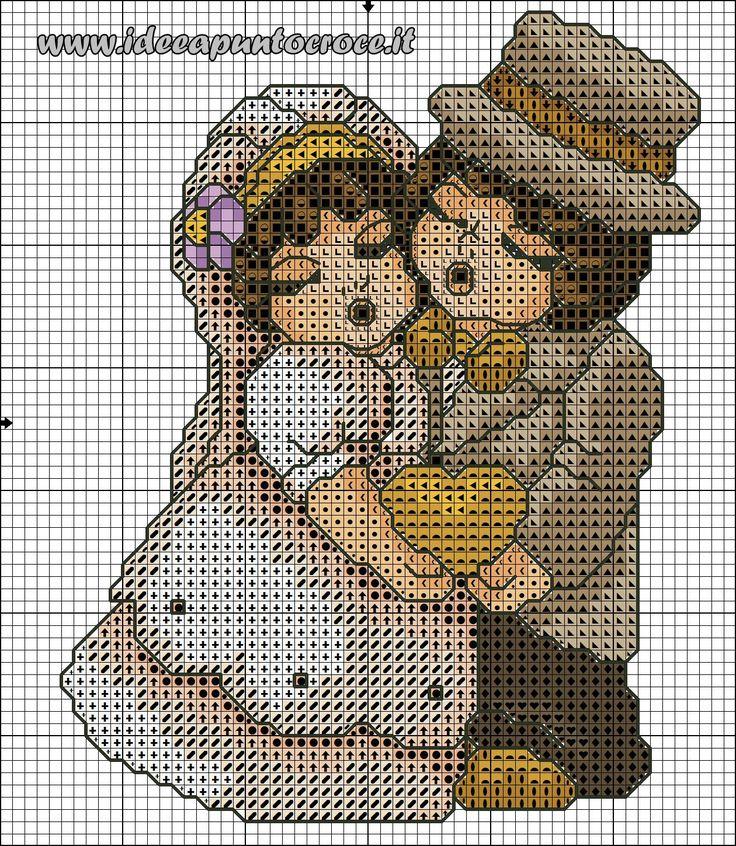 schema punto croce sposi Thun