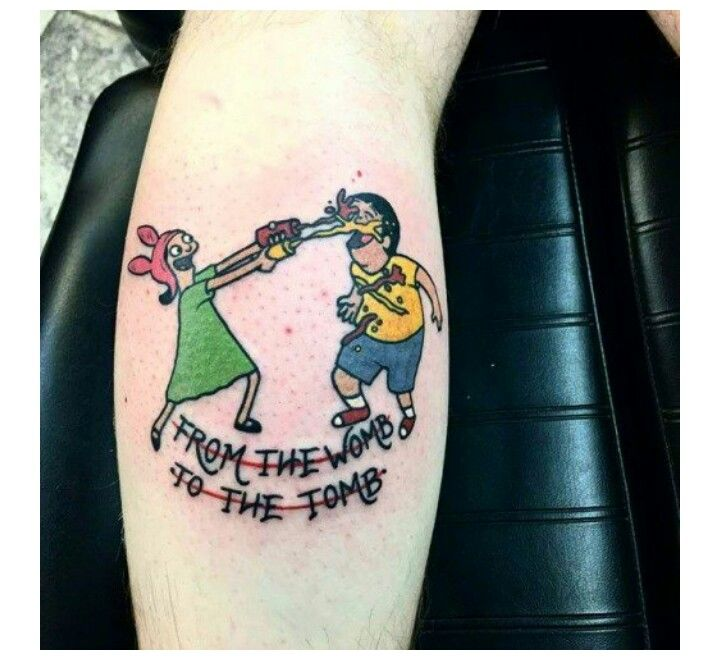 Bobs burgers tattoo color me beautiful pinterest for Texas bobs tattoos