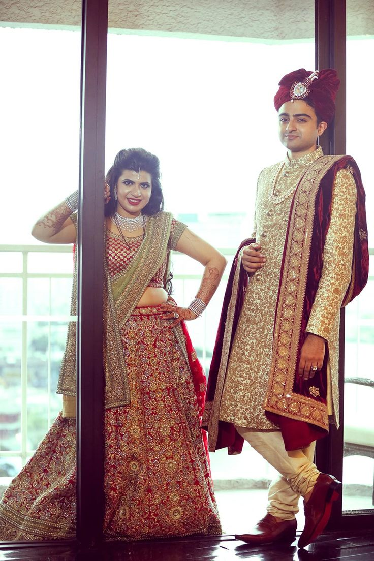 Kamali and Nikhil | Grooms Outfits | Sherwani groom, Asian ...