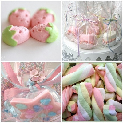 pink and yummy candy and treats