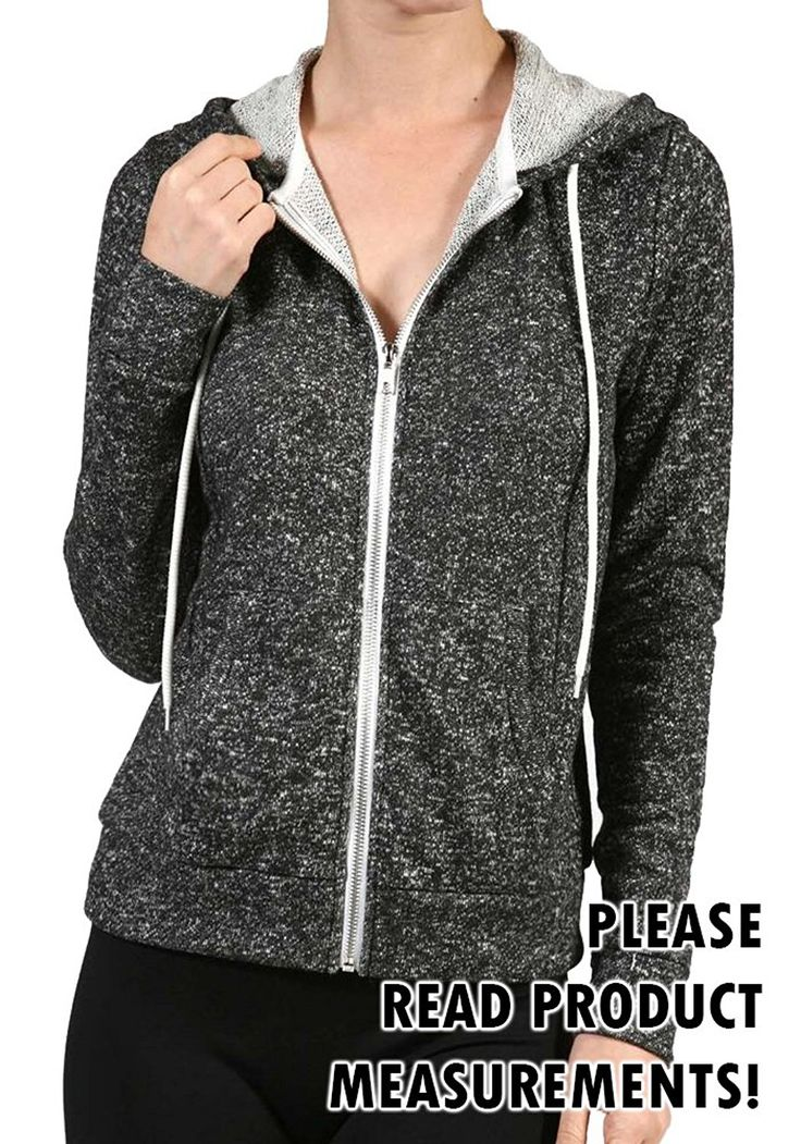 Plus Size Drawstring French Terry Zip-up Hoodie W/pockets (2x, Charcoal) Made by #curvyluv.com Color #Charcoal. Women's Plus Size Zip-up French Terry Hoodie with Pockets. Refer to garments measurements to insure proper fit.. All measurements are approximate. 1X = 40 inches chest / 24 inches length * 2X = 42 inches chest / 24 inches length * 3X = 44 inches chest / 24 inches length. THIS GARMENT RUNS SMALL