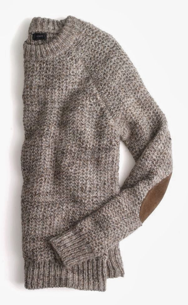 Adorable suede elbow patches sweater for fall